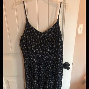 Black with white flowers Old Navy dress